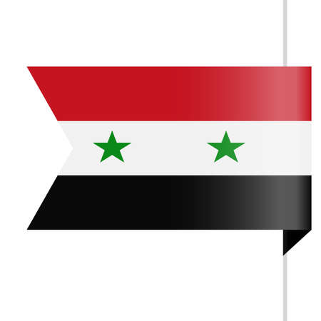 Syria Flag Vector Bookmark Icon - Illustration