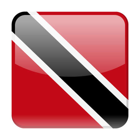 Trinidad and Tobago Flag Vector Square Icon - Illustration
