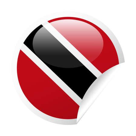 Trinidad and Tobago Flag Vector Round Corner Paper Icon - Illustration