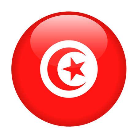 Tunisia Flag Vector Round Icon - Illustration