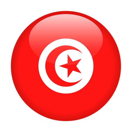 Tunisia Flag Vector Round Icon - Illustration