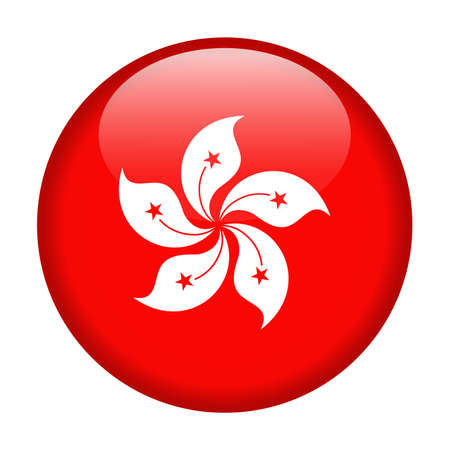 Hong Kong Flag Vector Round Icon - Illustration