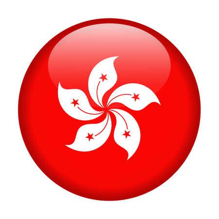 Hong Kong Flag Vector Round Icon - Illustration