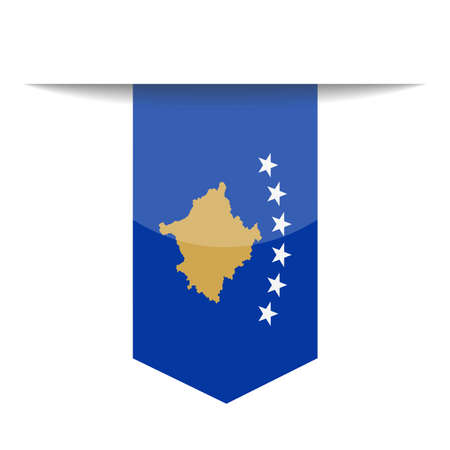 Kosovo Flag Vector Bookmark Icon - Illustration 矢量图像