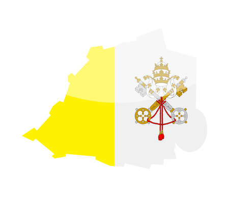 Vatican Flag Country Contour Vector Icon - Illustration.