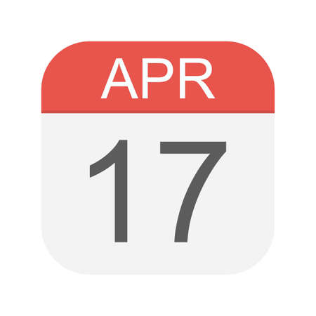 April 17 - Calendar Icon - Vector Illustration