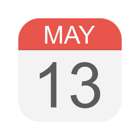 May 13 - Calendar Icon - Vector Illustration
