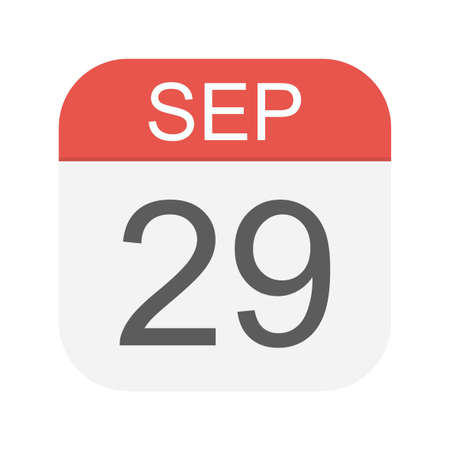 September 29 - Calendar Icon - Vector Illustration