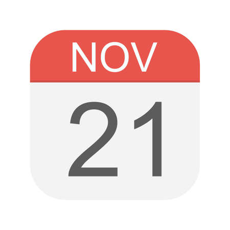 21 novembre - Icona Calendario - Illustrazione Vettoriale Vettoriali