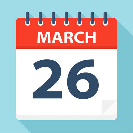April 26 - Calendar Icon - Vector Illustration Illustration