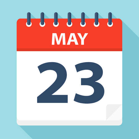 May 23 - Calendar Icon - Vector Illustration