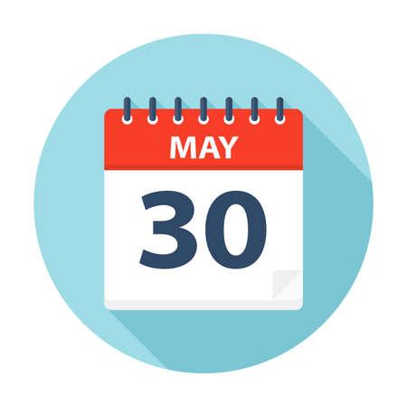 May 30 - Calendar Icon - Vector Illustration Illustration