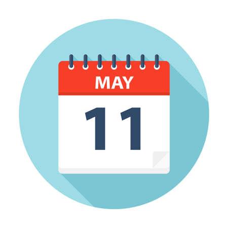 May 11 - Calendar Icon - Vector Illustration