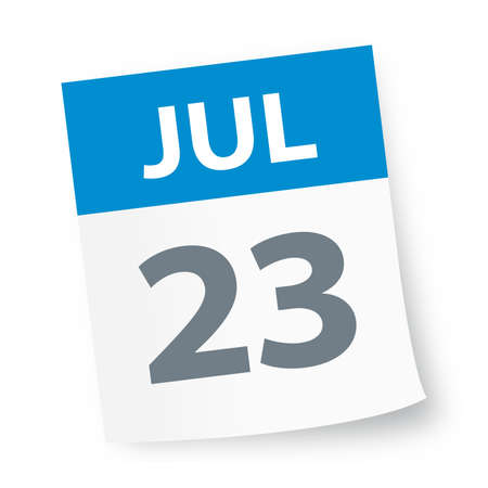July 23 - Calendar Icon - Vector Illustration Illustration