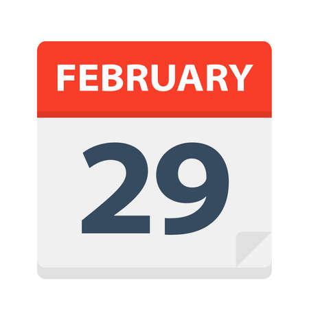 February 29 - Calendar Icon Çizim