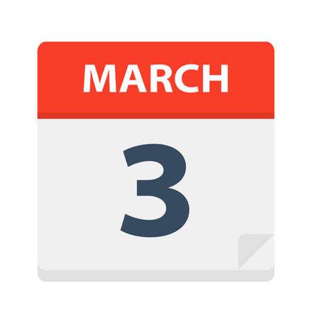 March 3 - Calendar Icon