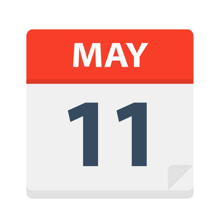 May 11 - Calendar Icon - Vector Illustration