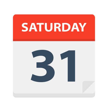 Saturday 31 - Calendar Icon - Vector Illustration Фото со стока - 112407674
