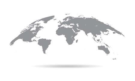 Globe Curved World Map - Vector Illustration Ilustração