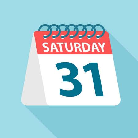 Saturday 31 - Calendar Icon - Vector Illustration Фото со стока - 128500204
