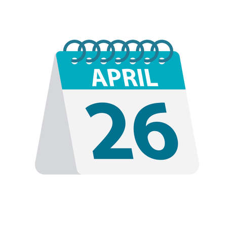April 26 - Calendar Icon - Vector Illustration