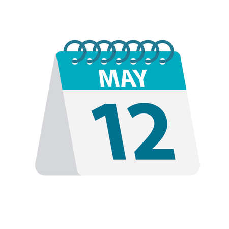 May 12 - Calendar Icon - Vector Illustration