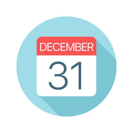 December 31 - Calendar Icon - Vector Illustration  イラスト・ベクター素材