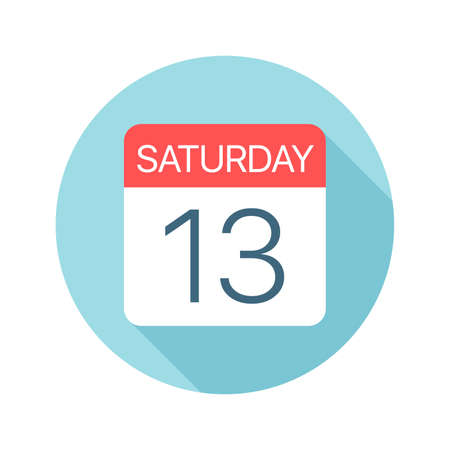 Saturday 13 - Calendar Icon - Vector Illustration Фото со стока - 128501409