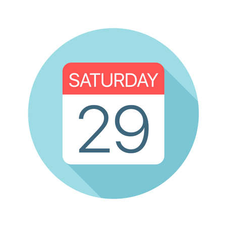 Saturday 29 - Calendar Icon - Vector Illustration Фото со стока - 128501436