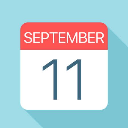11 septembre - Icône de calendrier - Illustration vectorielle