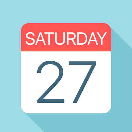 Saturday 27 - Calendar Icon - Vector Illustration Фото со стока - 128502001