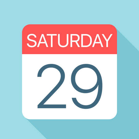 Saturday 29 - Calendar Icon - Vector Illustration Фото со стока - 128502003