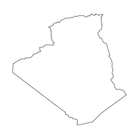 Algeria Map - Vector Contour. Illustration Illustration