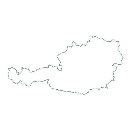 Austria Map - Vector Contour. Illustration Vector Illustratie