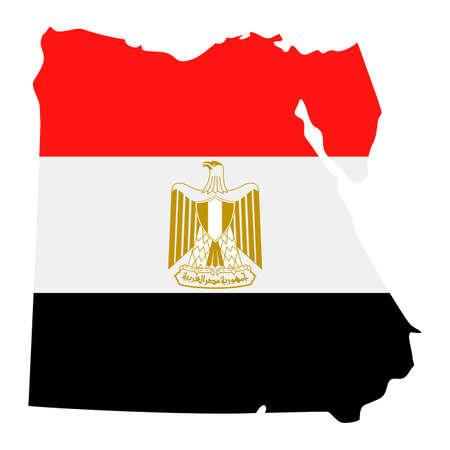 Egypt Map Flag Fill Background - Vector illustation. Illustration