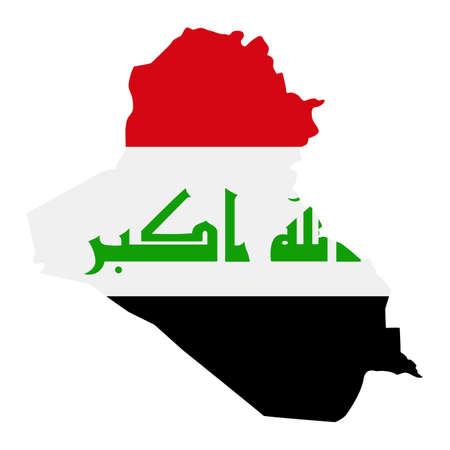 Iraq Map Flag Fill Background - Vector illustation. Illustration Vetores