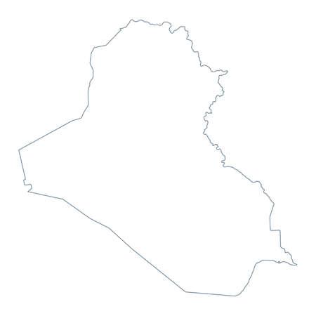 Iraq Map - Vector Contour. Illustration