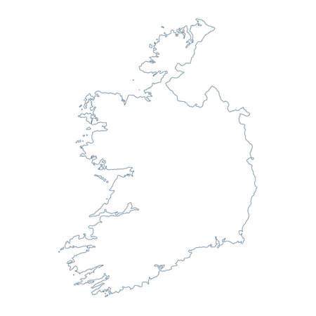 Ireland Map - Vector Contour. Illustration Çizim