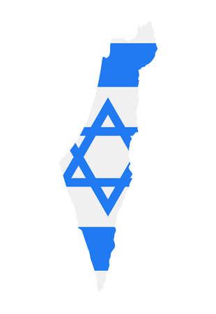 Israel Map Flag Fill Background - Vector illustation. Illustration Çizim