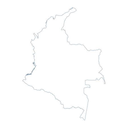 Colombia Map - Vector Contour. Illustration