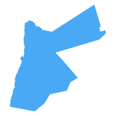 Jordan Map - Vector Solid Contour. Illustration