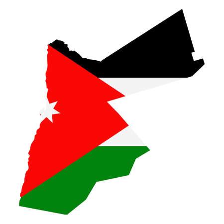 Jordan Map Flag Fill Background - Vector illustation. Illustration Ilustração