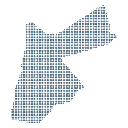 Jordan Map - Vector Pixel Solid Contour. Illustration