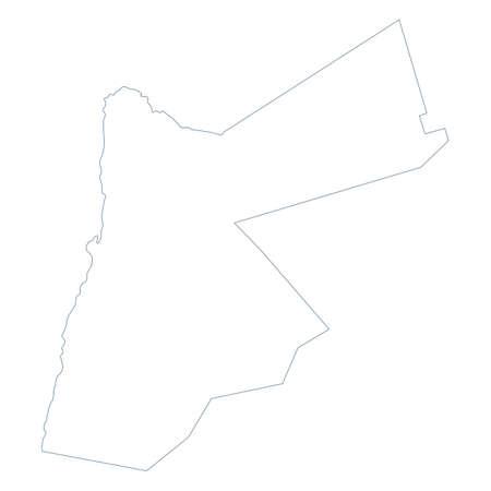 Jordan Map - Vector Contour. Illustration