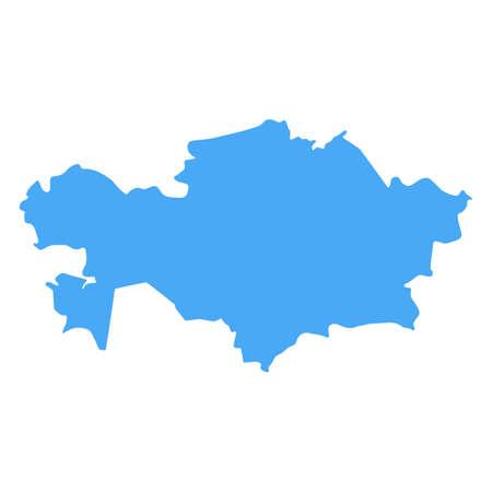 Kazakhstan Map - Vector Solid Contour. Illustration