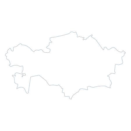 Kazakhstan Map - Vector Contour. Illustration Ilustração
