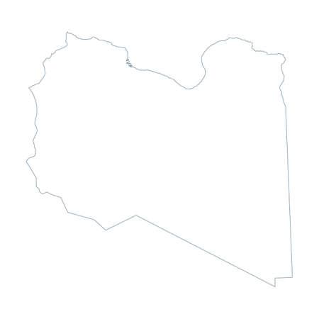 Libya Map - Vector Contour. Illustration Ilustração