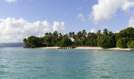 Wild  beach in caribbean island. Samana. Dominican republic Stock Photo - 8895347