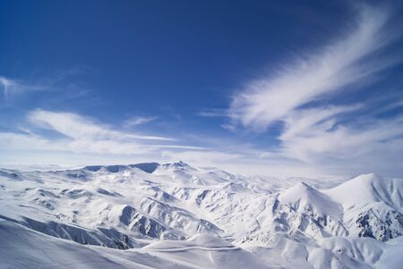 View from mountain Ejder.3,271 m (10,732 ft).Palandoken.East Anatolia. photo