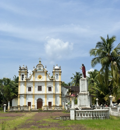 Catholic church in Goa. Heritage of Portuguese colony.. India photo